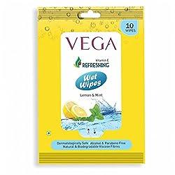 Vega Wet Wipes Lemon & Mint (Pack OF 4)