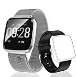 HuaWise Fitness Tracker,Activity Tracker with Heart Rate Monitor and Sleep Monitor,Bluetooth Waterproof Smart