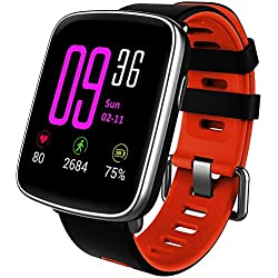 Willful Montre Connectée Smartwatch Femmes Homme Enfant Bracelet Connecté Cardio Etanche IP68 Smart Watch Podometre Sport Cardiofrequencemetre Marche Chronometre pour Android iOS iPhone Xiaomi Huawei