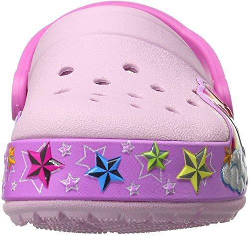 Crocs Crocslights Rainbow Heart Clog, Sabots Fille Rose (Ballerina Pink)