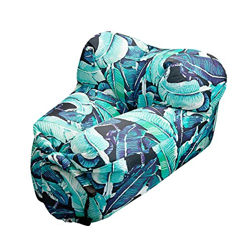 Air Chair LeHom Blatt Aufblasbares Sofa Wasserdicht Tragbar Outdoor Sofa Haltbar Air Sofa Camping Strand Garten Party Schwimmen Einzelsofa Luftsitzsack