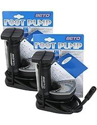 2x Fahrrad Fuss Pumpe Kompressor Standpumpe Fußpumpe Fahrradpumpe Minipumpe