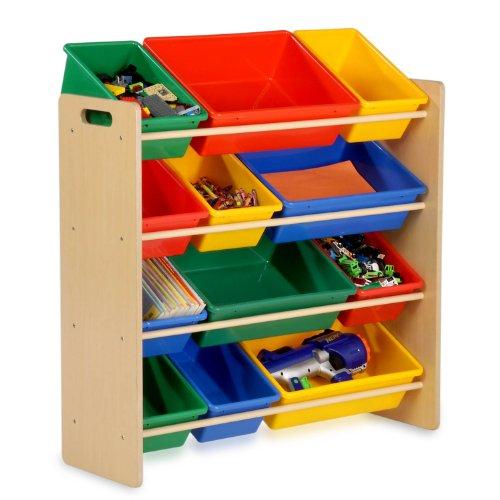 honey-can-do-srt-01602-kids-storage-organizer-primary-12-bins