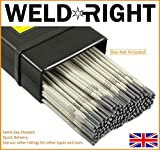 Weld Right - Uso general E6013 soldadura por arco Electrodos Varillas - 2,5 mm x 10-100 qtys