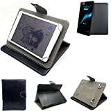 K-S-Trade Schutz Hülle Tablet Case für Haier HaierPad Mini 781, schwarz. Tablet Hülle mit Standfunktion Ultra Slim Bookstyle Tasche Kunstleder