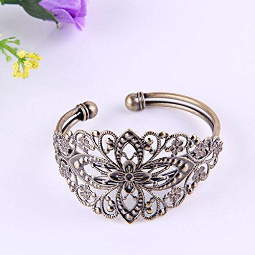 Skyllc® 1 Stk. Metall Armband Armreif Armkette Damen Modeschmuck Vintage (Vintage Von Das Modeschmuck Tragen)