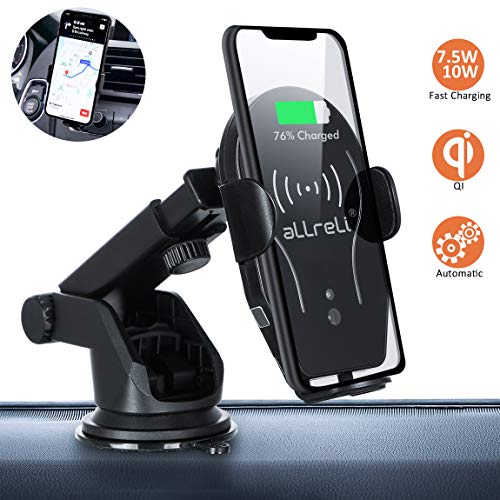 terung für Auto,Induktions Autohalterung Air Vent Phone Holder Kompatibel für iPhone XS Max/Xs/Xr/X/8/8Plus,Samsung Note 5/8, Galaxy S9/S8//S7/S6, Schwarz ()