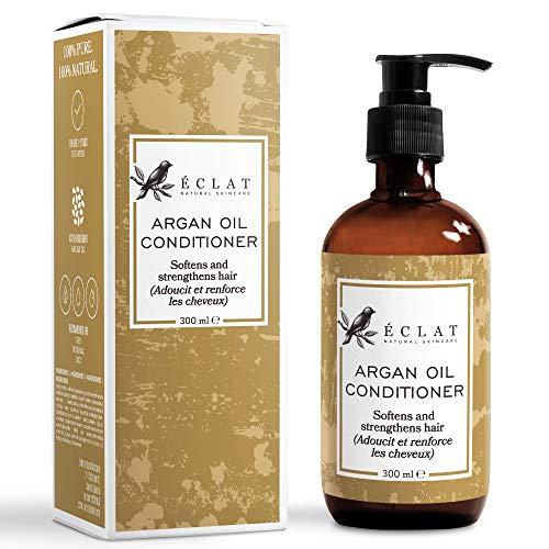 Arganöl Bio Haar Conditioner - Nicht fettender natürlicher Argan Öl Conditioner aus Jojoba und Macadamia mit Vitamin E und Omega 6 Fettsäuren für weicheres, seidigeres und gesünderes Haar -