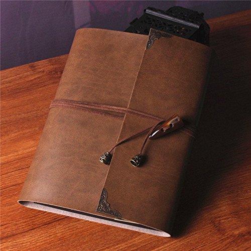 saibang Persönlichen DIY Fotoalbum handgefertigt Retro Leder Alben Scrapbook Gästebuch