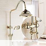 ZQ@QX Continental - Kupfer antik Gold duschen KIT P STEHT FÜR