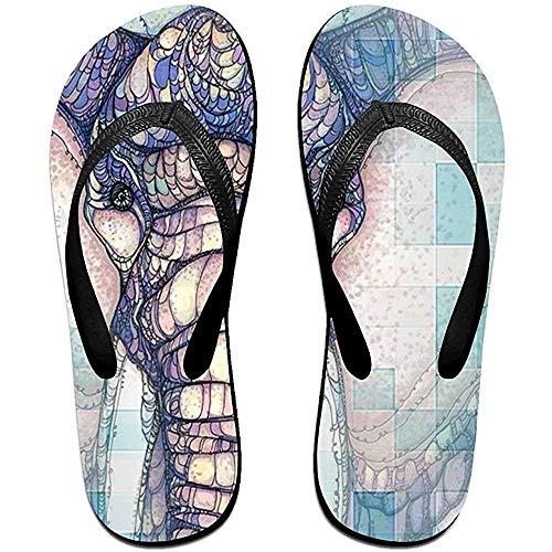 Zapatillas Chanclas Unisex Antideslizantes Color Brillante Flor Elefante Zapatillas de Playa Frescas Sandalia
