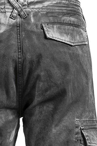 Rock Rebel by EMP Rusty Cargo Hose schwarz/grau Schwarz/Grau