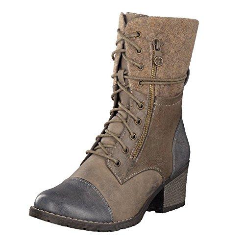 Rieker Damen 92534 Langschaft Stiefel, Blau (Jeans/Kiesel/Fango/Wood / 14), 38 EU