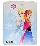 Kuscheldecke / Fleecedecke -  Disney Frozen - die Eiskönigin  - 110 cm * 140 cm - incl. Name - Decke aus Fleece - Schmusedecke - für Mädchen - Prinzessin Pr..