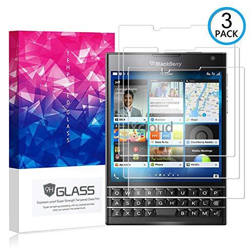 Ycloud [3 Pack] Panzerglas Displayschutzfolie für BlackBerry Passport (Q30), Hartglas Staubdichter, 9H kratzfester Displayschutz Protector für BlackBerry Passport (Q30)
