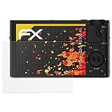 atFoliX Schutzfolie für Sony DSC-RX100 III Displayschutzfolie - 3 x FX-Antireflex blendfreie Folie
