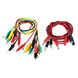 10 x Test Leads 100cm + 2 x Banana Plug to Alligator Clip Probe Cable
