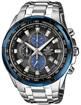 [Gesponsert]Casio Edifice - Herren-Armbanduhr mit Analog-Display und Massives Edelstahlarmband - EF-539D-1A2VEF