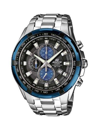 Casio Edifice Herrenarmbanduhr EF-539D-1A2VEF, blau schwarz, massives Edelstahlgehäuse und Armband, 10 BAR