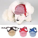 MagiDeal Hundehut Sunbonnet Baseball Cap Hut für Outdoor Sport Haustier Hund Katze Kostüme – Kaffee S - 3