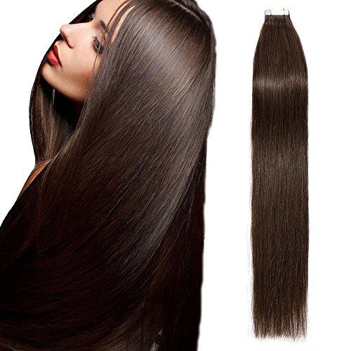 Extension adesive capelli veri biadesivo 20 fasce 40g tape extension 2g/fascia - 14