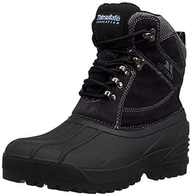 Trespass Mens Aldor Snow Boots MAFOBOH20001 Black 6 UK, 40 EU