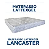 Queen's bad LATTEXGEL - Materasso in Lattice Waterlily 50 Ve Gaia con Oli Essenziali di Erbe officinali (Piazza e Mezza (120 x 190))