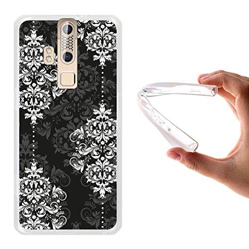 WoowCase ZTE Axon Elite Hülle, Handyhülle Silikon für [ ZTE Axon Elite ] Damaskus Luxusmuster Handytasche Handy Cover Case Schutzhülle Flexible TPU - Transparent