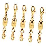 Baosity 5 Stück DIY Schmuck Herstellung Magnetische Karabinerverschluss für Halskette & Armband - Gold 1