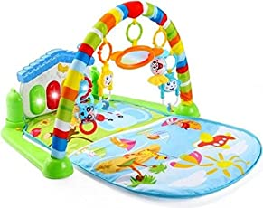 WonderKart Kick and Play Musical Piano Gym with Hanging Toys (Multicolour, Colour/Print May Vary, WKPG-104)