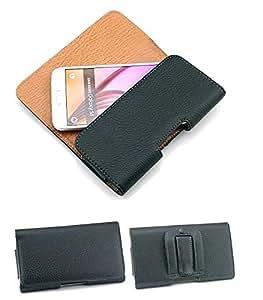 Cuir Ceinture Pince Boucle Holster Clapet Étui Housse Pour Samsung Galaxy S6 Edge / S6