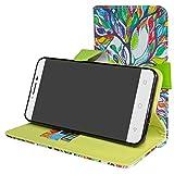 Mama Mouth Alcatel A3 XL Case, [Stand View] Flip Premium PU