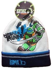 Ninja Turtles Teenage Mutant Offiziell lizensierter Weiß Beanie Mütze - Lizensierter Ninja Turtles Fanartikel