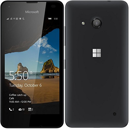 Microsoft Lumia 550 Smartphone (4,7 Zoll (11,9 cm) Touch-Display, 8 GB Speicher, Windows 10) schwarz