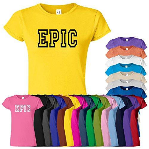 Epic Frauen Damen Mädchen passten T-Stück T-Shirt Sweatshirt Top Neues Design Tee Epic T-Shirt S M L XL Viele Farben & Größen erhältlich von SnS Heliconia / Schwarz Design