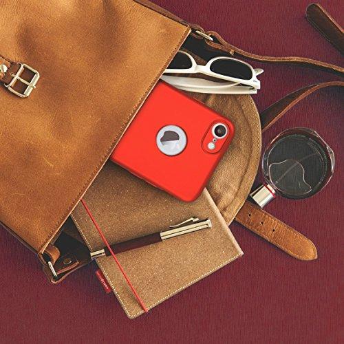 kwmobile Hülle für Apple iPhone 7 - Backcover Case Handy Schutzhülle TPU Silikon - Back Cover Metallic Dunkelrot .Metallic Dunkelrot