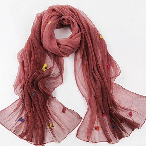 serviette de plage Lady Broderie à la broderie en dentelle Echarpe sauvage à châle en soie ( Couleur : F ) E
