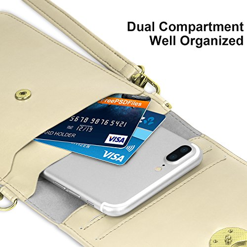 MoKo Bosa a Spalla per Cellurari, Borsello Tracolla Multi-Taschi Universale Fino ad 6 Pollici, per iPhone X / 8 Plus / 8 / 7 Plus / 6s / 6 / 5s / 5c, Samsung Galaxy Note 8 / S8 / S7 Edge �?Nero Cachi