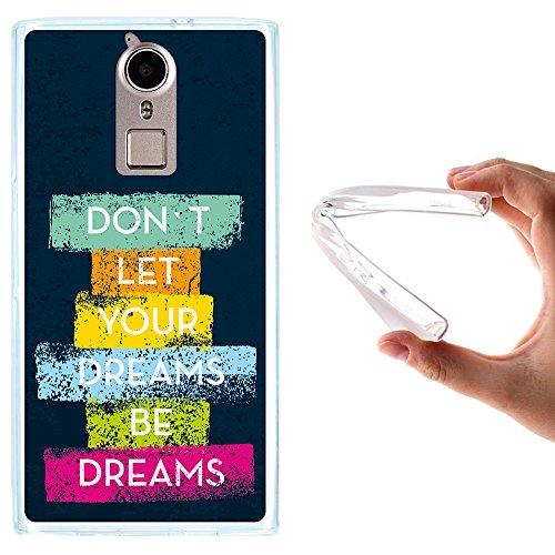 WoowCase Doogee F5 Hülle, Handyhülle Silikon für [ Doogee F5 ] Motivierungssatz - Don´t Let Your Dreams Be Dreams Handytasche Handy Cover Case Schutzhülle Flexible TPU - Transparent
