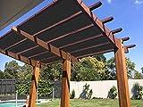 E.enjoy Rete Parasole Ventilazione permeabile del Patio della pergola del Patio Resistente UV di Sunblock del Tessuto (Size : 300cm x 300cm)