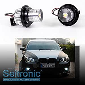 Seitronic LD-560 LED Angel Eyes Xenon Weiss