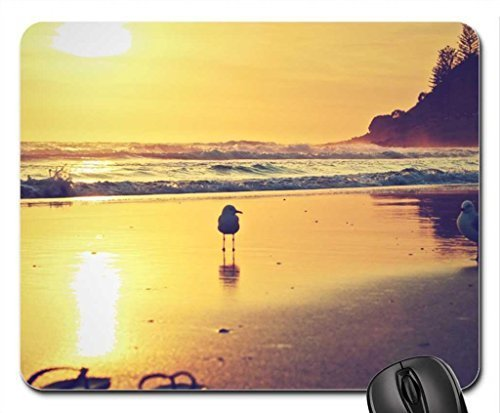 sunset-seagulls-and-sandals-mouse-pad-mousepad-beaches-mouse-pad