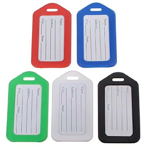 5 Colors Suitcase Luggage Tags Name Address ID Labels