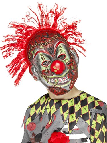 Kinder Maske böser Horror Clown mit Haaren (Clown Masken Böser)