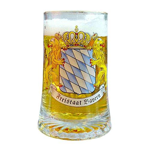 Geschenkbox Boîte cadeau bierseidl Stern Bode nseidl Freistaat Bayern avec drapeaux, diamant et plaque de verre, 0,5 l