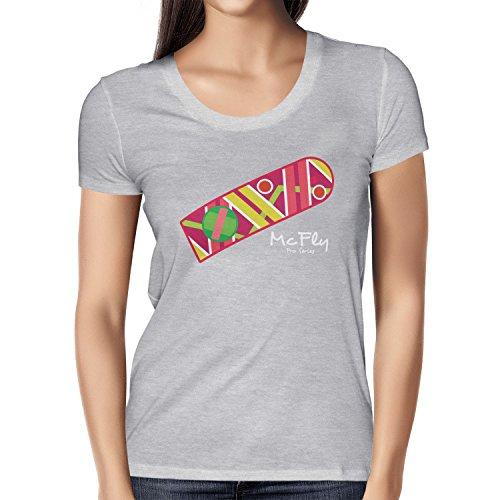 TEXLAB - McFly Pro Series Hoverboard - Damen T-Shirt Grau Meliert