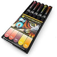 Set de 5 rotuladores marcadores permanentes con base de alcohol Chameleon Blendable Color Tones Warm Tones