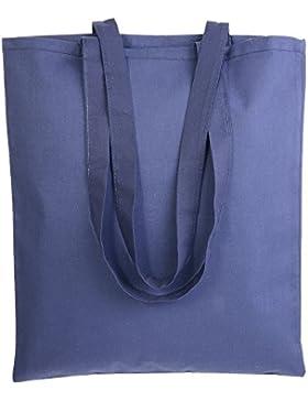 stock 50 sacche borse cotone manici lunghi 130 gr 38 x 42 lavoretti su tela borsa shopper shopping