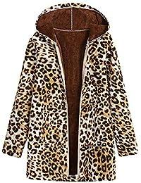 Logobeing Chaquetas Mujer Abrigos Ropa de Abrigo Tallas Grandes Suéter Jersey Mujer Bolsillos con Capucha de