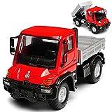 Welly Mercedes-Benz Unimog U400 mit Pritsche Rot LKW Truck ca 1/43 1/36-1/46 Modell Auto mit individiuellem Wunschkennzeichen